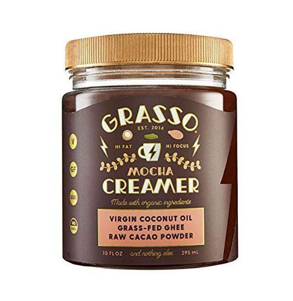 """<p><strong>Coffee Booster</strong></p><p>amazon.com</p><p><a href=""""https://www.amazon.com/Keto-Coffee-Creamer-Organic-Original/dp/B07XYGLKH3?tag=syn-yahoo-20&ascsubtag=%5Bartid%7C10054.g.26887058%5Bsrc%7Cyahoo-us"""" rel=""""nofollow noopener"""" target=""""_blank"""" data-ylk=""""slk:Buy"""" class=""""link rapid-noclick-resp"""">Buy</a></p><p>If mom's all about fad foods, this mocha-flavored creamer made from organic ghee and coconut oil will upgrade her coffee with good flavor and healthy fats.</p>"""