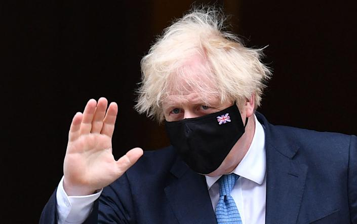Boris Johnson leaving 10 Downing Street last Wednesday for Prime Minister's Questions in the House of Commons - JUSTIN TALLIS / AFP via Getty Images