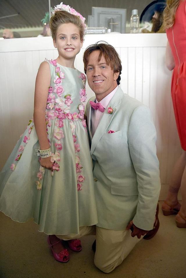 <p>Dannielynn Birkhead and Larry Birkhead attends The 142nd Kentucky Derby at Churchill Downs on May 7, 2016 in Louisville, Kentucky. (Photo: Stephen J. Cohen/WireImage) </p>