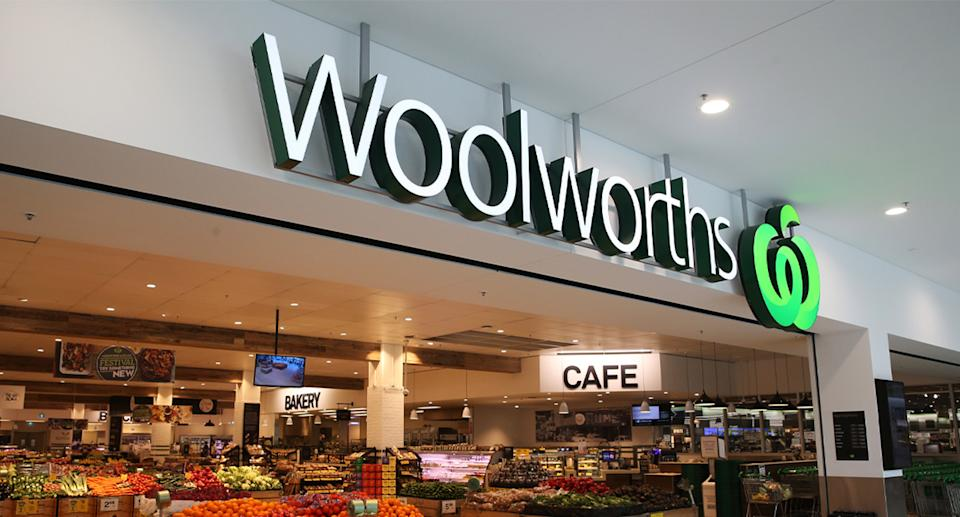 A photo of a Woolworths store front.