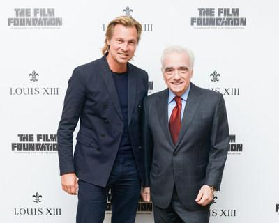 Martin Scorsese and Ludovic du Plessis at the release of