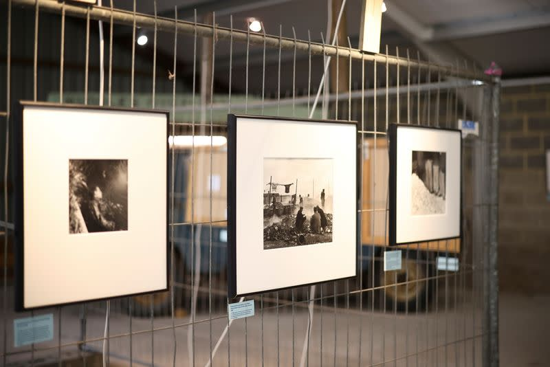 General view inside an exhibition of photographs by American photographer and surrealist Lee Miller, at Farleys House & Gallery, where the artist lived before her death in 1977, in Muddles Green