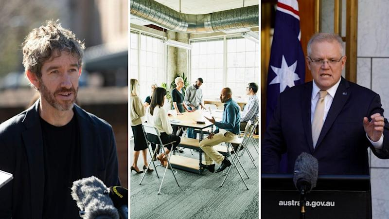 Atlassian co-founder and co-CEO Scott Farquhar has called on the Morrison Government to increase support for research and development companies. Images: Getty