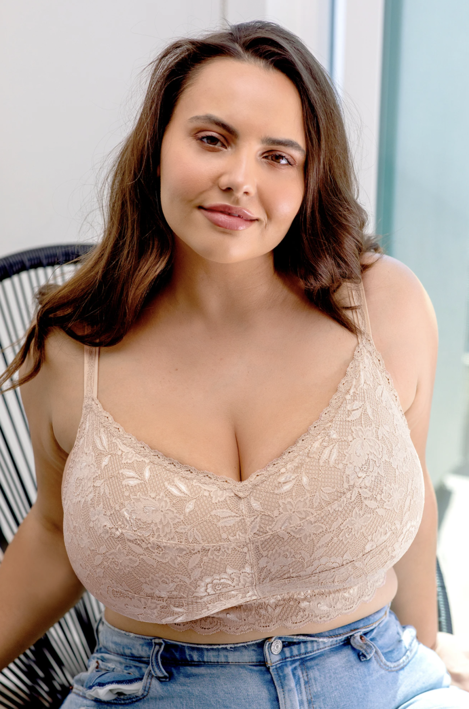 Never Say Never Ultra Curvy Sweetie Bralette in Sette (Photo via Cosabella)