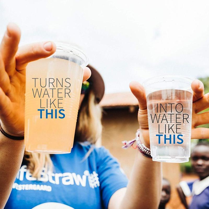 The LifeStraw Personal Water Filter helps remove more than 99.9% of waterborne bacteria and parasites.