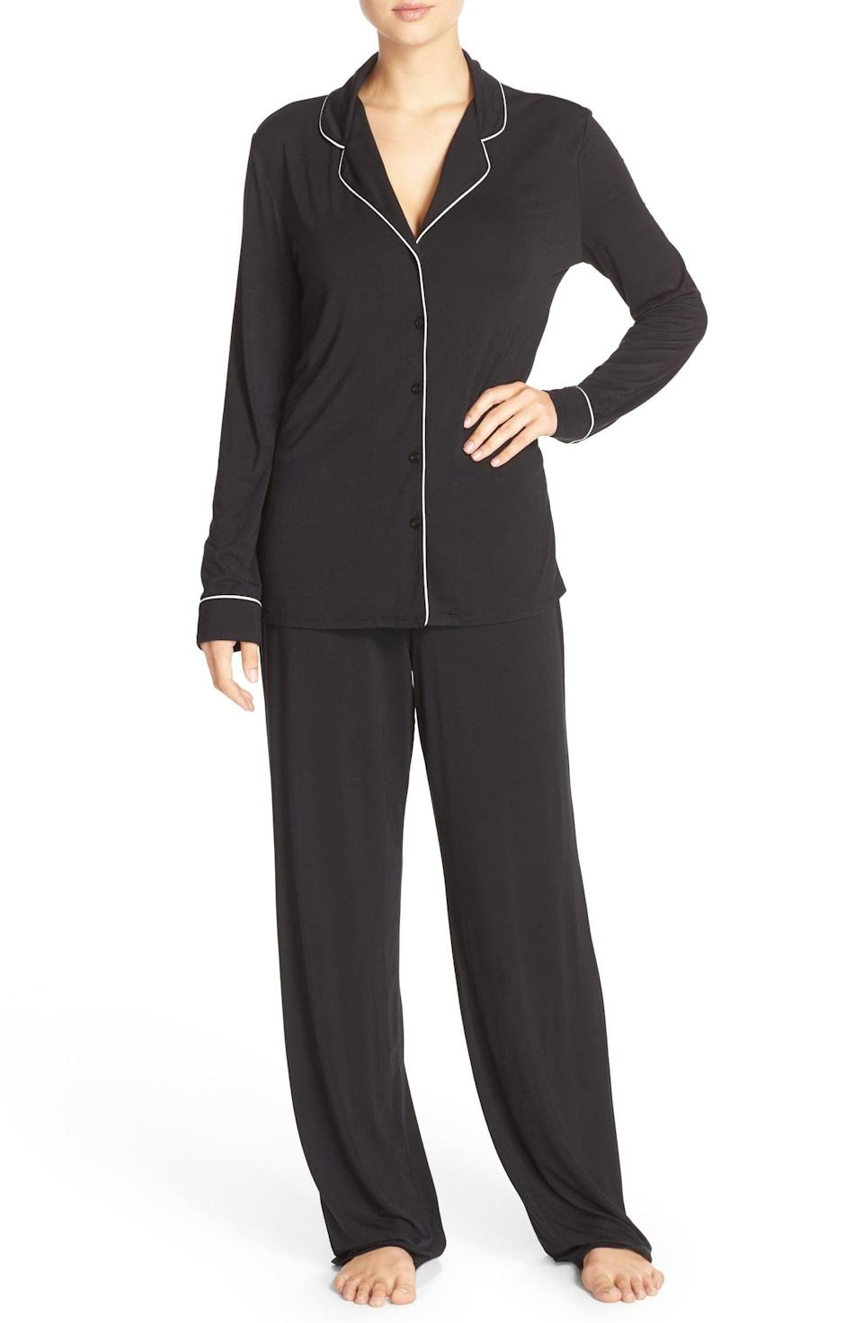 <p>Treat your loved one, or yourself, to these stylish, super-soft <span>Nordstrom Lingerie Moonlight Pajamas</span> ($65). These lightweight and airy pajamas are perfect for getting cozy. It comes in a variety of colors and patterns as well!</p>