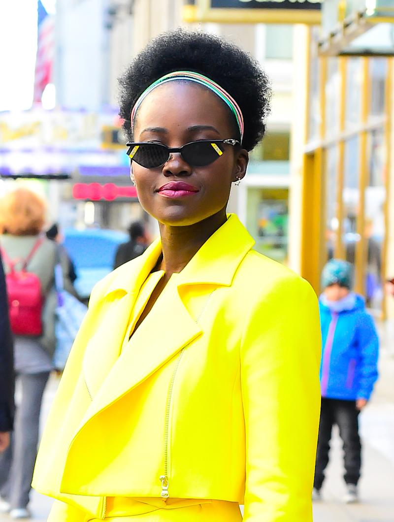 Lupita Nyong'o's Statement Lip May Be the Secret to Brightening Up Your Fall Look