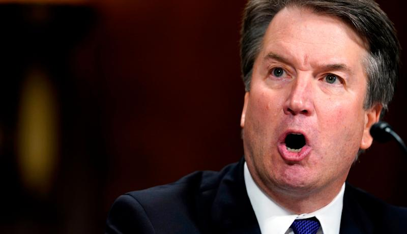 The FBI reached out to 10 people during its dayslong investigation into sexual misconduct allegations against Supreme Court nominee Brett Kavanaugh and interviewed nine of them, according to The New York Times. (Photo: ANDREW HARNIK via Getty Images)