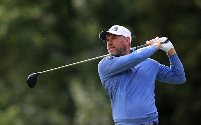 England's Lee Westwood on the tenth hole during day four of the Betfred British Masters at Close House Golf Club, - PA