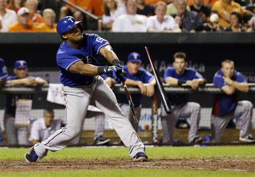 Beltre hits 2 HRs to lead Rangers over Orioles 8-4