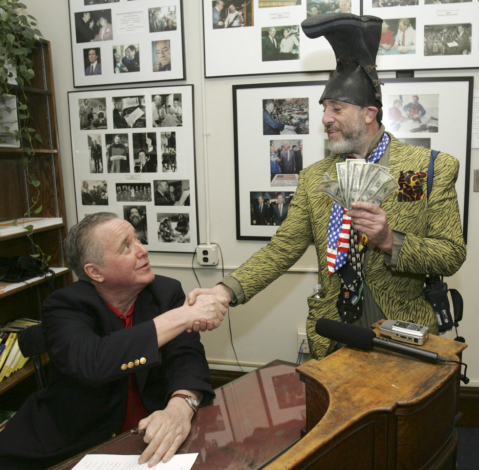"Vermin Supreme  You may not have read about Vermin Supreme, but surely you've seen his photograph. The third party candidate/performance artist was on his third run for higher office this cycle--promising ponies and a focus on dental health.   Here's how our own Chris Moody found him the day of the New Hampshire primary: ""Wearing his trademark plastic boot as a hat with a Hulk fist at his waist clutching an American flag, Mr. Supreme made the case for his candidacy in an interview with Yahoo News. He also shared his fine Howard Dean impression."""