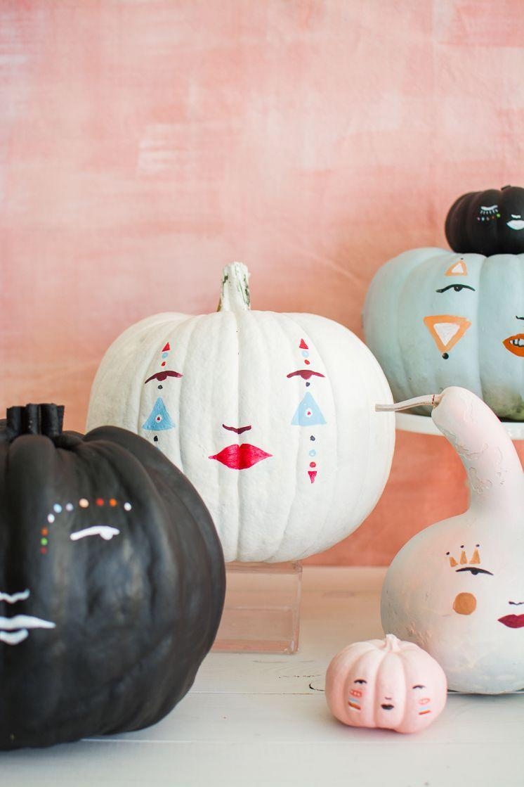"""<p>For an even more creative take on statement pumpkins, check out these Bohemian-inspired faces. </p><p><strong>See more at <a href=""""https://thehousethatlarsbuilt.com/2020/09/pastel-pumpkin-faces.html/"""" rel=""""nofollow noopener"""" target=""""_blank"""" data-ylk=""""slk:The House That Lars Built"""" class=""""link rapid-noclick-resp"""">The House That Lars Built</a>. </strong></p><p><a class=""""link rapid-noclick-resp"""" href=""""https://www.amazon.com/Apple-Barrel-Acrylic-Assorted-21119/dp/B0018N4P54?tag=syn-yahoo-20&ascsubtag=%5Bartid%7C2164.g.36877187%5Bsrc%7Cyahoo-us"""" rel=""""nofollow noopener"""" target=""""_blank"""" data-ylk=""""slk:SHOP WHITE ACRYLIC PAINT"""">SHOP WHITE ACRYLIC PAINT</a></p>"""