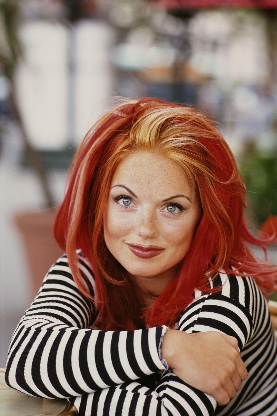 <p>Leave it to the Spice Girls—especially daring member Geri Halliwell, a.k.a. Ginger Spice—to lead millions of girls to beg their moms and dads to let them get streaks in their hair of bright red, orange, pink, and other colors.</p>