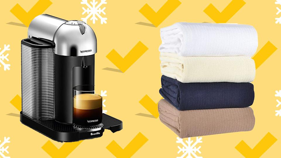 Shop pre-Black Friday deals at Bed Bath & Beyond, with markdowns available on Nespresso machines, cozy throws and more.