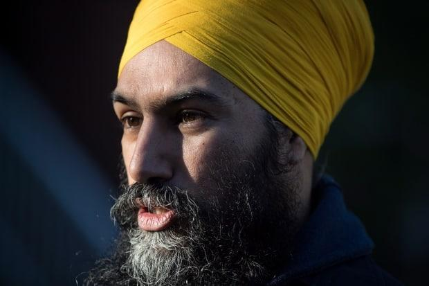 Federal NDP Leader Jagmeet Singh was a featured guest at a virtual event hosted by the Peel District School Board in honour of Sikh Heritage Month. (Darryl Dyck/Canadian Press - image credit)