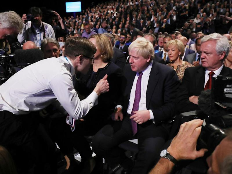 Boris must have thought the heat was off him after Theresa May's unfortunate series of events (Getty)