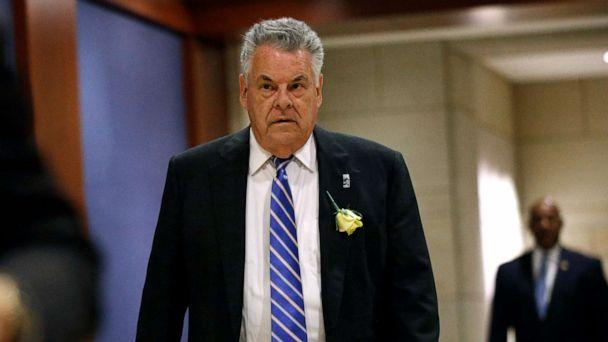 PHOTO: In this May 21, 2019, photo, Rep. Peter King, R-N.Y., arrives for a classified members-only briefing on Iran on Capitol Hill in Washington. King announced Monday, Nov. 11, 2019, he will retire in 2020. (AP Photo/Patrick Semansky, File) (Patrick Semansky/AP)