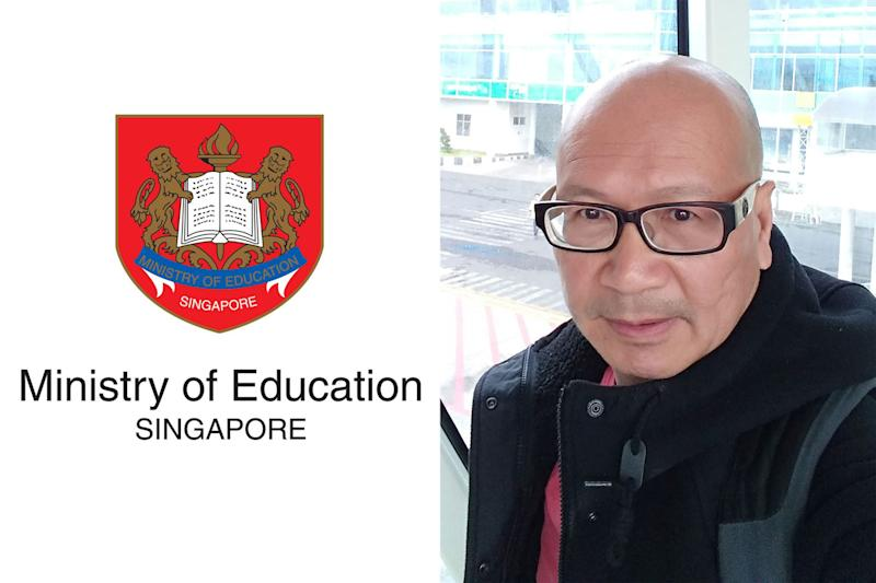 The Ministry of Education has responded to Facebook posts made by activist Gilbert Goh (right) and former presidential candidate Tan Kin Lian. (PHOTOS: Facebook/Ministry of Education, Facebook/Gilbert Goh)