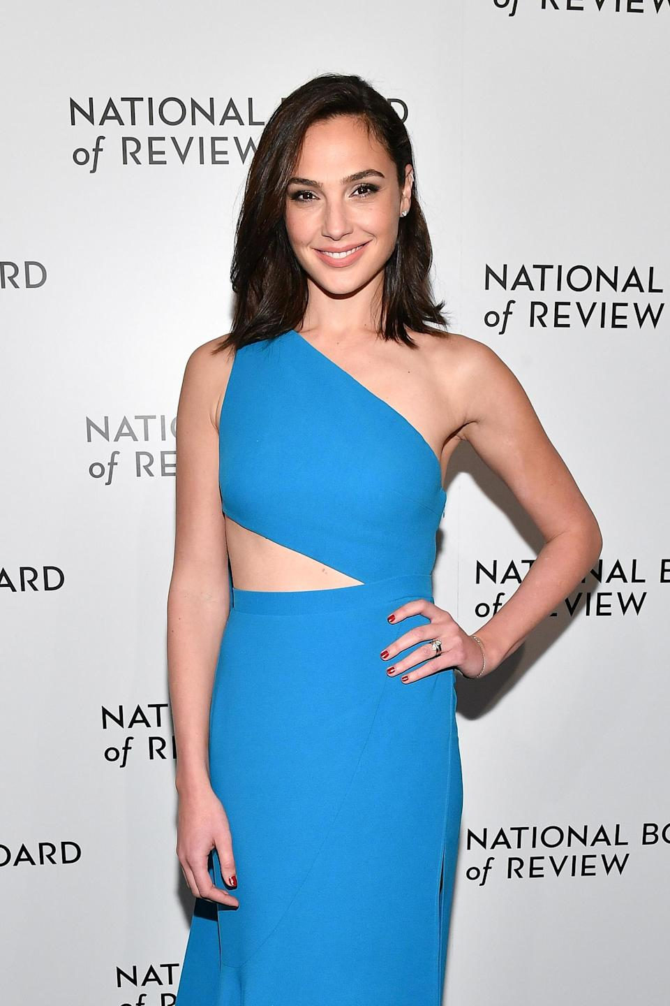 Wonder Woman actress Gal Gadot's choice to wear Lebanese designer Ellie Saab to the National Board of Review gala sparked controversy. (Photo: Getty Images)