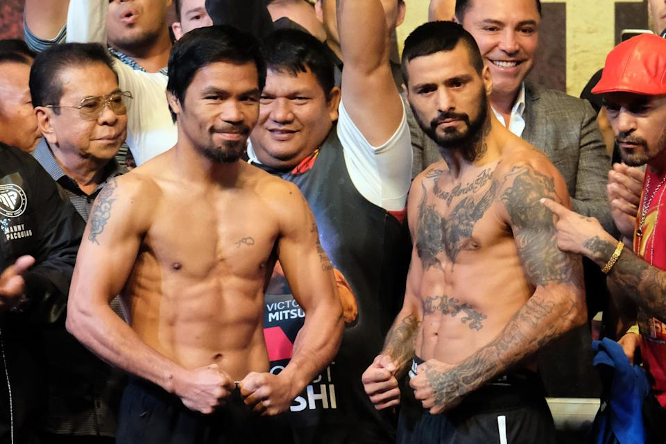 Manny Pacquiao fought Lucas Matthysse in Kuala Lumpur, Malaysia. (Getty Images)