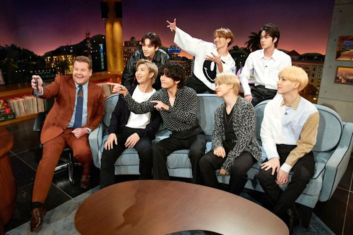 James Corden and BTS | Terence Patrick/CBS