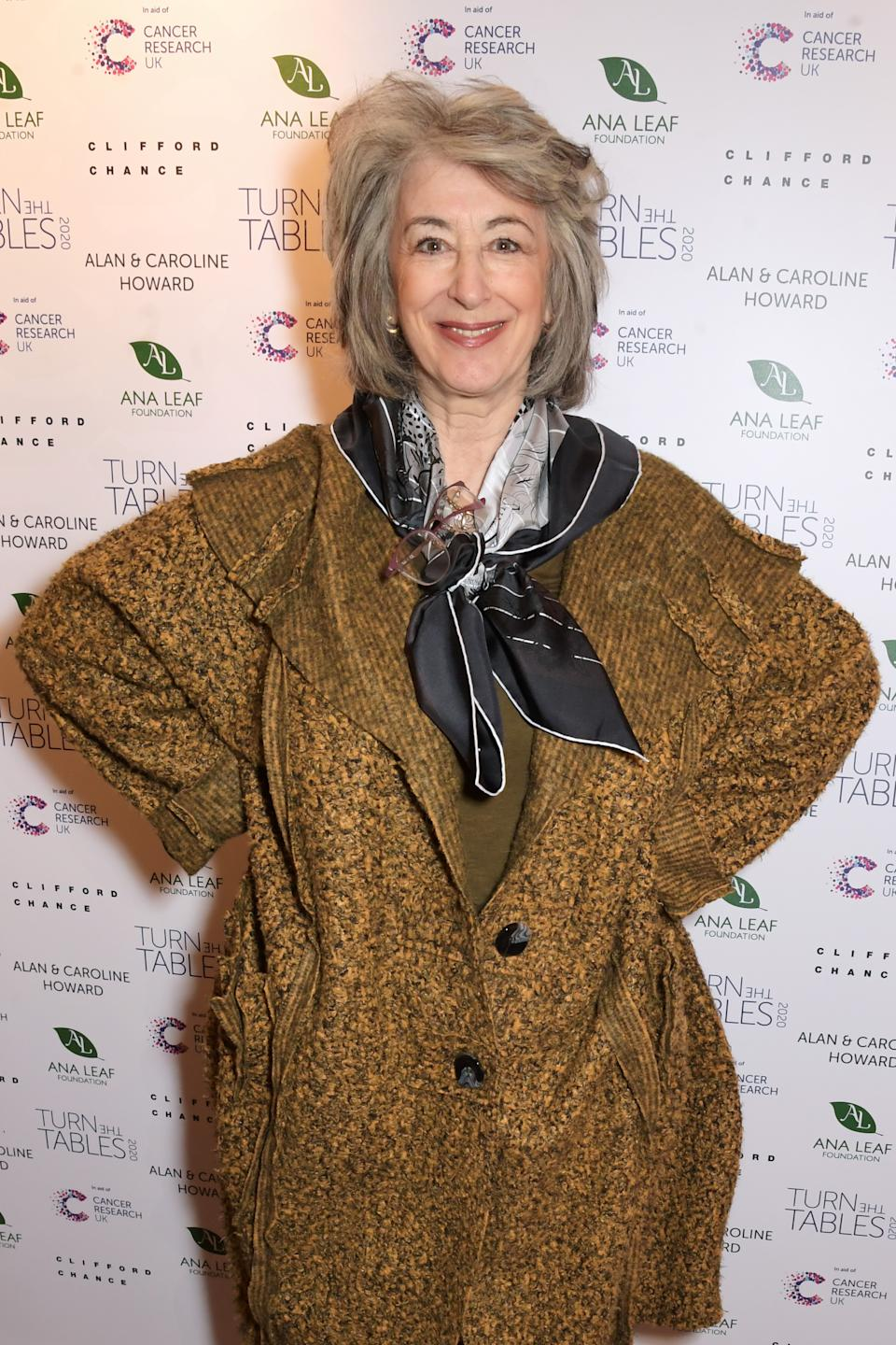 Maureen Lipman attends Turn The Tables 2020 hosted by Tania Bryer and James Landale in aid of Cancer Research UK at Fortnum & Mason on March 2, 2020 in London, England.  (Photo by David M. Benett/Dave Benett/Getty Images)