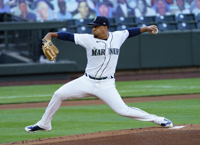 Justus Sheffield #33 of the Seattle Mariners