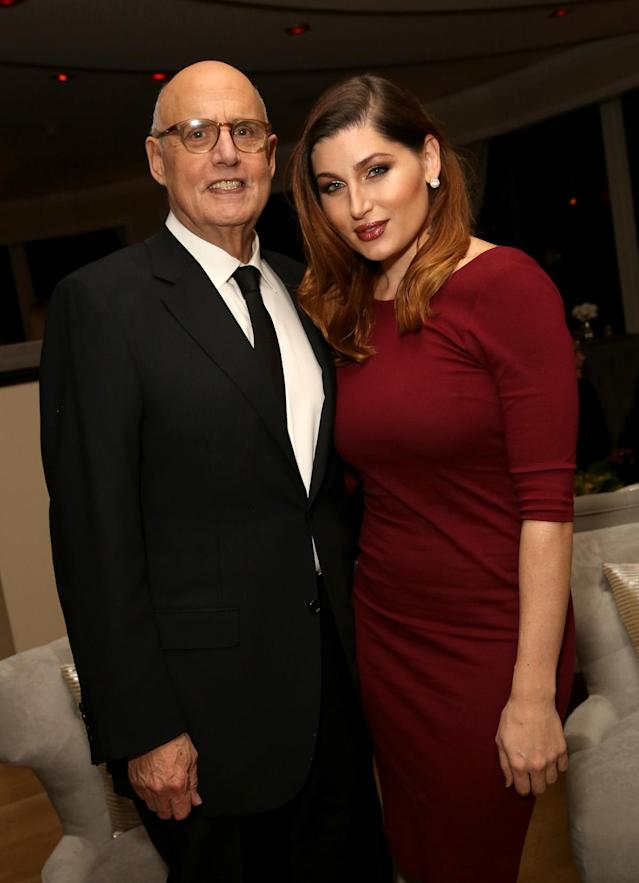 Actor Jeffrey Tambor and actress Trace Lysette attend Amazon's Golden Globe Awards Celebration at the Beverly Hilton Hotel on Jan. 10, 2016, in Beverly Hills, Calif. (Photo: Getty Images)