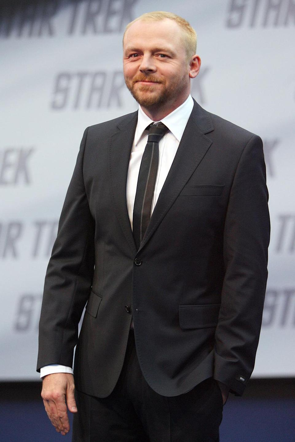 "<p>Simon Pegg (Scotty) at the German premiere. Pegg is British; he received <a href=""http://www.bbcamerica.com/anglophenia/2009/04/simon-pegg-explains-his-scottish-accent-in-star-trek"" rel=""nofollow noopener"" target=""_blank"" data-ylk=""slk:voice training from his wife"" class=""link rapid-noclick-resp"">voice training from his wife</a>, who is from Glasgow, to perfect Scotty's accent. <i>(Photo: Franziska Krug/Getty Images)</i></p>"