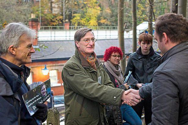 Grieve hits the campaign trail on the streets of Beaconsfield (Matt Writtle)