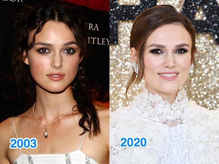 keira knightle then and now