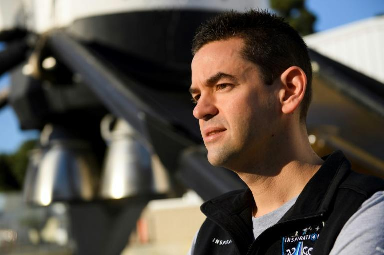 The SpaceX flight has been chartered by American billionaire Jared Isaacman, the 38-year-old founder and CEO of payment processing company Shift4 Payment (AFP/Patrick T. FALLON)