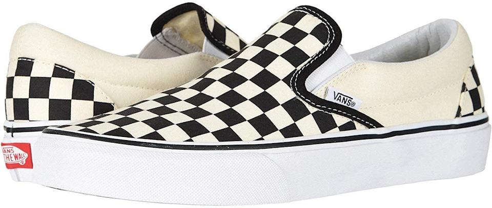 <p>Can't go wrong with a classic! Everyone loves these <span>Vans Unisex Classic Slip-On Shoes</span> ($50).</p>