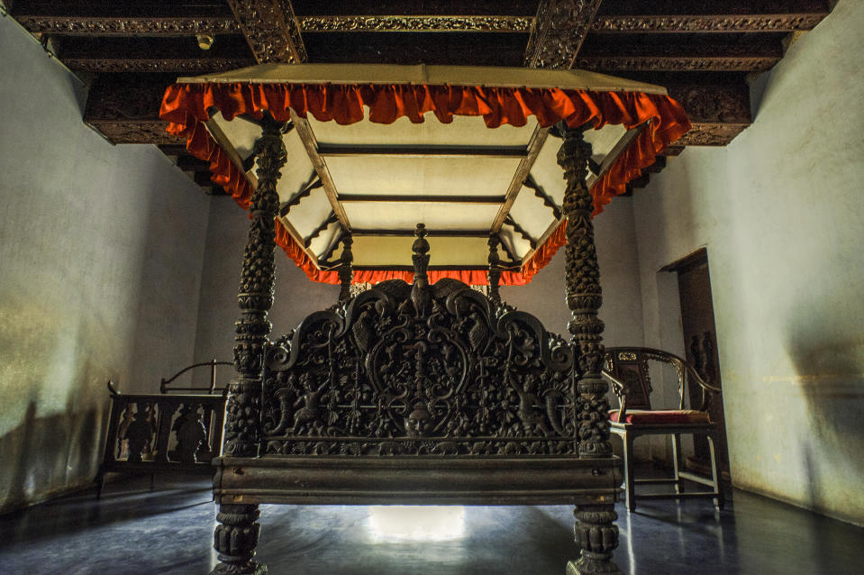 Mohagany wood carving architecture Padmanabhapuramwooden palace complex-20km from Nagercoil Tamil Nadu INDIA