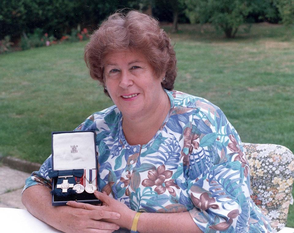 Margaret Purves was a founder member of the Albert Medal Association and of the VC and GC Association, regularly attending their reunions - John Walters/Daily Mail/Shutterstock
