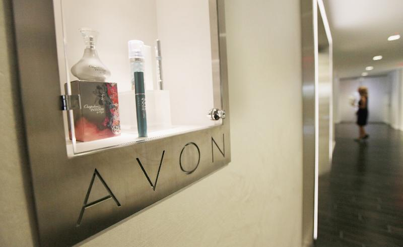 Avon products are seen displayed inside the US headquarters for Avon Products Inc. in New York (AFP Photo/Mario Tama)