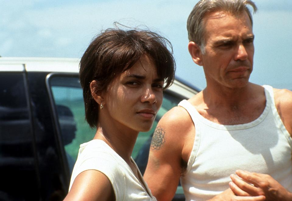 Halle Berry and Billy Bob Thornton in a scene from the film 'Monster's Ball', 2001. (Photo by Lions Gate Films/Getty Images)