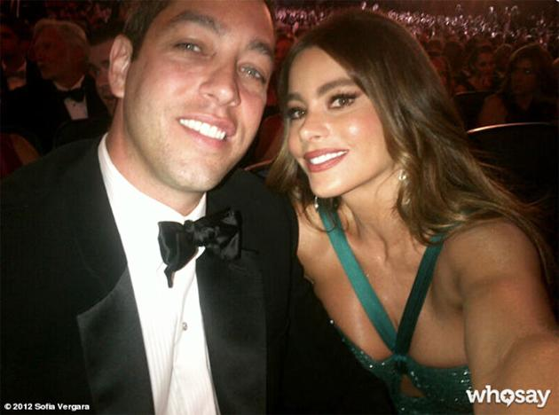 Vergara with her fiancé Nick Loeb at the Emmys (WhoSay)