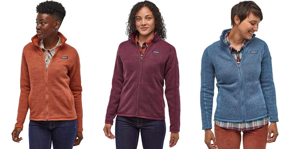 Patagonia Better Sweater Jacket for Women is up to 25 percent. (Photo: Backcountry)
