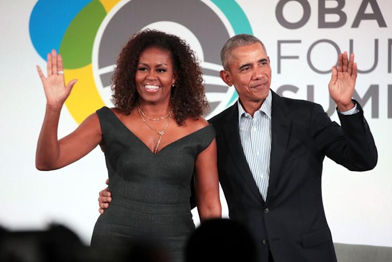 From left: Former First Lady Michelle Obama and former President Barack Obama | Scott Olson/Getty