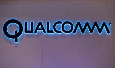 FILE PHOTO: Qualcomm's logo is seen during Mobile World Congress in Barcelona, Spain, February 28, 2017. REUTERS/Eric Gaillard/File Photo
