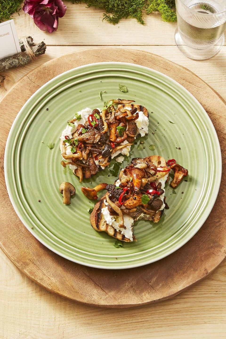 "<p>Red chile adds just the right amount of spice to balance the earthy mushrooms and creamy cheese.</p><p><em><a href=""https://www.goodhousekeeping.com/food-recipes/easy/a24181244/wild-mushroom-toasts-recipe/"" rel=""nofollow noopener"" target=""_blank"" data-ylk=""slk:Get the recipe for Wild Mushroom Toasts »"" class=""link rapid-noclick-resp"">Get the recipe for Wild Mushroom Toasts »</a></em></p>"