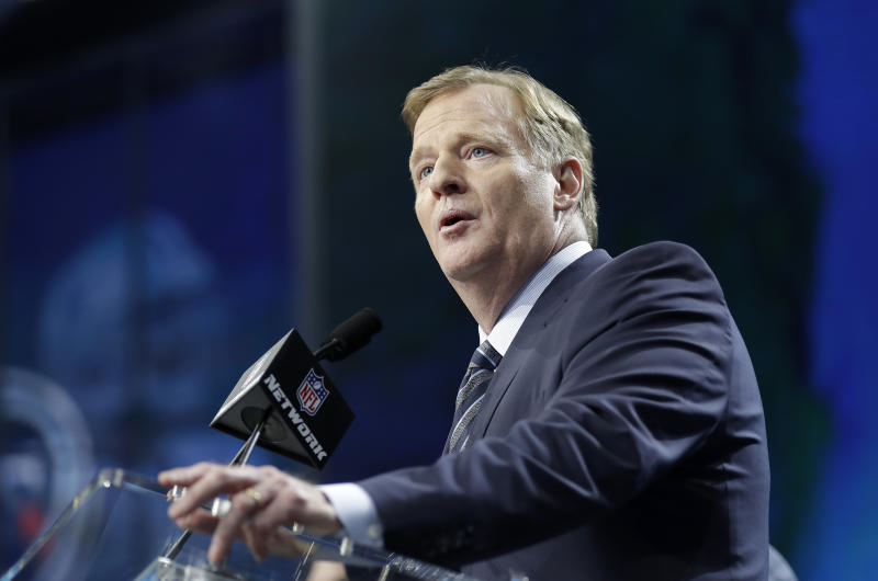 Roger Goodell at the owners meetings in Atlanta this week. (AP)