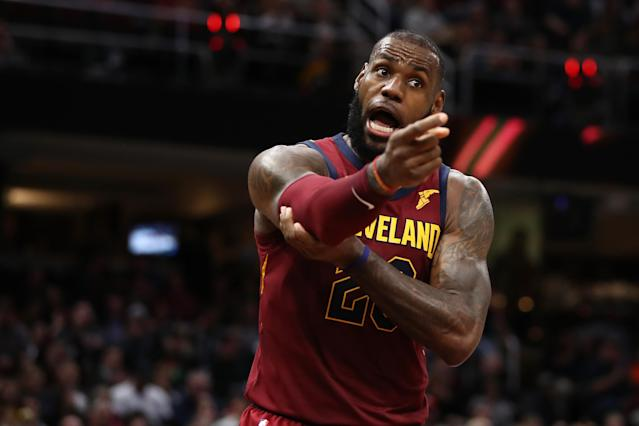 "<a class=""link rapid-noclick-resp"" href=""/nba/players/3704/"" data-ylk=""slk:LeBron James"">LeBron James</a> isn't about to start pointing fingers, but things look dire in Cleveland right now. (Getty)"