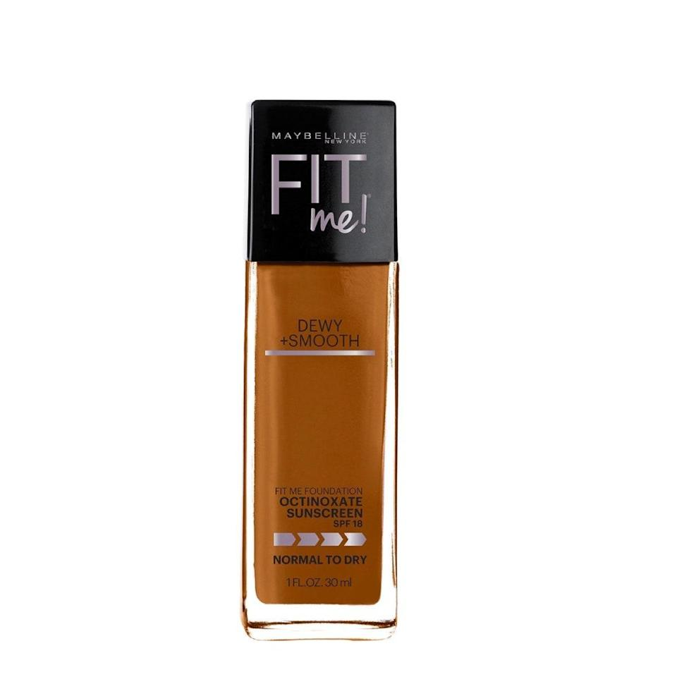 """This is another solid drugstore option that's been a go-to of mine for years. Since I'm actually not very oily, I prefer foundations on the dewy side since it's less likely they'll settle into any crusty healing pimples (sorry). This one has medium coverage and a luminous finish that's not glittery; it just looks like really healthy skin. It's not oil-free, but it is fragrance-free and noncomedogenic, so I've never had an issue with it clogging my pores. If you prefer a matte finish, the <a href=""""https://shop-links.co/1708721860754529454"""" rel=""""nofollow noopener"""" target=""""_blank"""" data-ylk=""""slk:Matte + Poreless version"""" class=""""link rapid-noclick-resp"""">Matte + Poreless version</a> is just as good (and that one <em>is</em> oil-free). $8, Maybelline. <a href=""""https://shop-links.co/1708721238662222072"""" rel=""""nofollow noopener"""" target=""""_blank"""" data-ylk=""""slk:Get it now!"""" class=""""link rapid-noclick-resp"""">Get it now!</a>"""