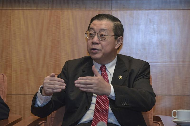 Lim Guan Eng speaks to reporters during a press conference at the Finance Ministry in Putrajaya October 4, 2019. — Picture by Shafwan Zaidon