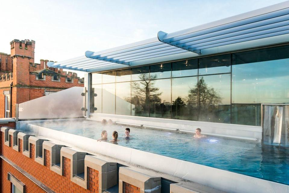 """<p><strong>Current deal: Luxury two-night package from £445</strong> </p><p><strong>Reopening 7 August</strong></p><p>One of the best-loved spas in Britain, <a href=""""https://www.womenshealthholidays.com/offers/leicestershire-ragdale-hall-spa-offer"""" rel=""""nofollow noopener"""" target=""""_blank"""" data-ylk=""""slk:Ragdale Hall"""" class=""""link rapid-noclick-resp"""">Ragdale Hall</a> is where you can really escape to the country (think acres of glorious views) while you relax, catch up with your number 1 and soak up the serenity. </p><p>Here you'll find a heated infinity rooftop pool of dreams, as well as an array of treatments available, an exquisite restaurant and an impressive spa. Its country house exterior and the fact that it's a destination spa, not a spa inside a hotel, make Ragdale a place that should be on every spa seeker's list. </p><p><a class=""""link rapid-noclick-resp"""" href=""""https://www.womenshealthholidays.com/offers/leicestershire-ragdale-hall-spa-offer"""" rel=""""nofollow noopener"""" target=""""_blank"""" data-ylk=""""slk:FIND OUT MORE"""">FIND OUT MORE</a></p>"""