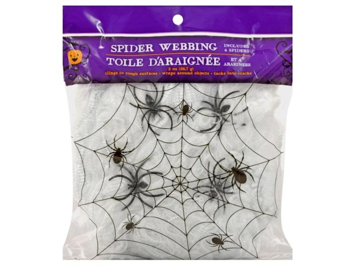 """This spider webbing can be wrapped about trees or railings. <span class=""""copyright"""">Dollar Tree</span>"""