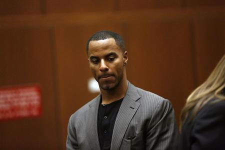 Former professional football player Sharper appears for his arraignment at the Clara Shortridge Foltz Criminal Justice Center in Los Angeles
