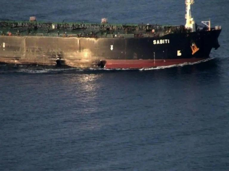 The Iranian oil tanker Sabiti is the lastest target in a still unexplained series of apparent tit-for-tat attacks involving Iran and Saudi Arabia on shipping and oil facilities in and around the Gulf and the Red Sea (AFP Photo/-)